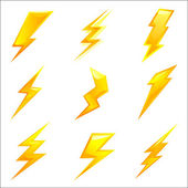 Powerful lightning bolts vector — Stock Vector