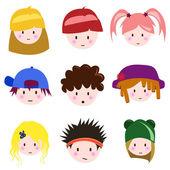 Cartoon children face — Stock Vector