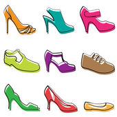 Diseño de zapatos de moda — Vector de stock