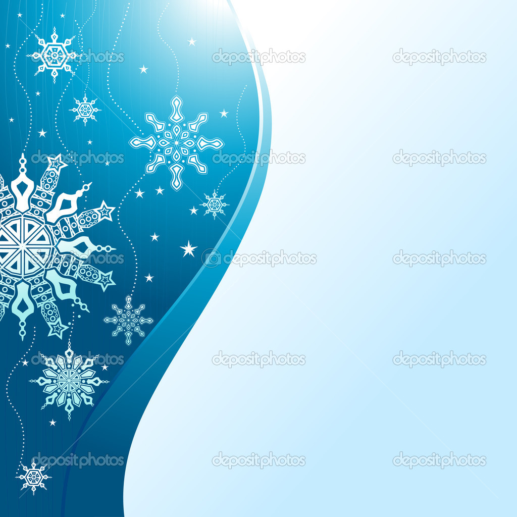 Winter concept ornamental design vector — Stock Vector #9981477