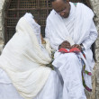 Ethiopian holy fire ceremony — Stock Photo