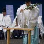 Rice harvest ceremony — Stock Photo