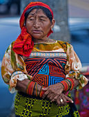 Kuna woman — Stock Photo