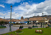 Cusco plaza de Armas — Stock Photo