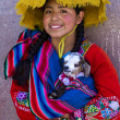 Peruvian girl - Stock Photo