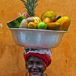 Palenquera fruit seller — Stock Photo