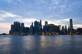 New York night skyline — Stock Photo
