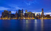 New York night skyline — Foto de Stock