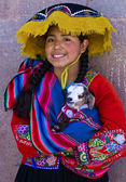 Peruvian girl — Stock Photo