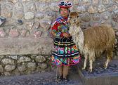 Peruvian girl — Stock Photo