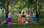 Central park belly dance — Stock Photo