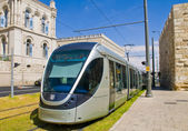 Jerusalem light rail train — Stock Photo