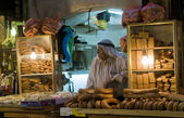 Palestinian bread seller — Stock Photo