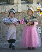 Purim in Mea Shearim — Foto Stock