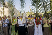 Jerusalem Palm sunday — Stock Photo