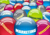 Marketing sectors — Stock Vector