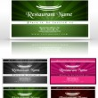 Victorian business cards set — Stock Vector