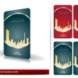 Vector de stock : Red and green business cards