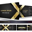 Black and gold business cards — Stock Vector