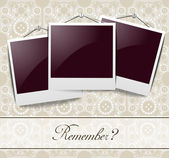 Elegant vintage photo frames — Stock Vector