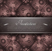 Rustic anniversary invitation — Stock Vector