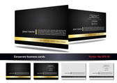 Corporate business card — Vettoriale Stock