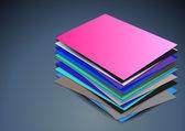 кучу пустых визитных карточек — Cтоковый вектор