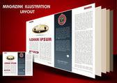 Časopis Obrázek rozložení pozadí — Stock vektor