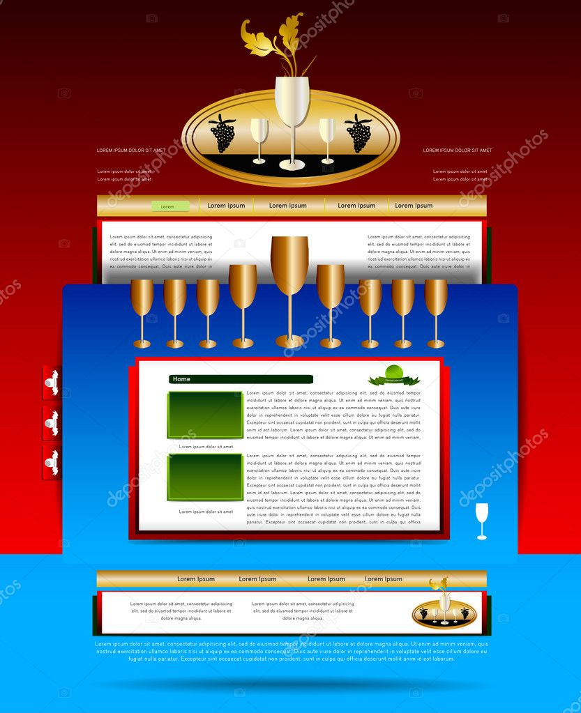 Editable website template. — Stock Vector #8102375
