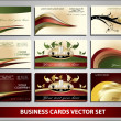 Business cards vector set — Stock Vector #8722694
