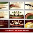 Business cards vector set — Stock Vector
