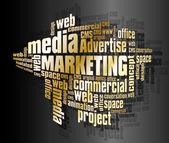 Marketing words — Stock Vector