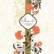 Floral vintage invitation card - 