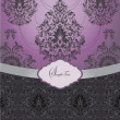 Purple  vintage damask invitation cardr - Image vectorielle