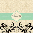 Vector vintage card design - Stockvectorbeeld