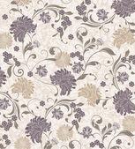 Ilustración vintage floral — Vector de stock