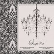 Vector vintage card design with chandelier - Vektorgrafik