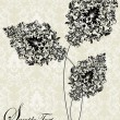 Abstract flower card with place for text — Image vectorielle