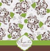 Carte d'invitation vintage floral — Vecteur
