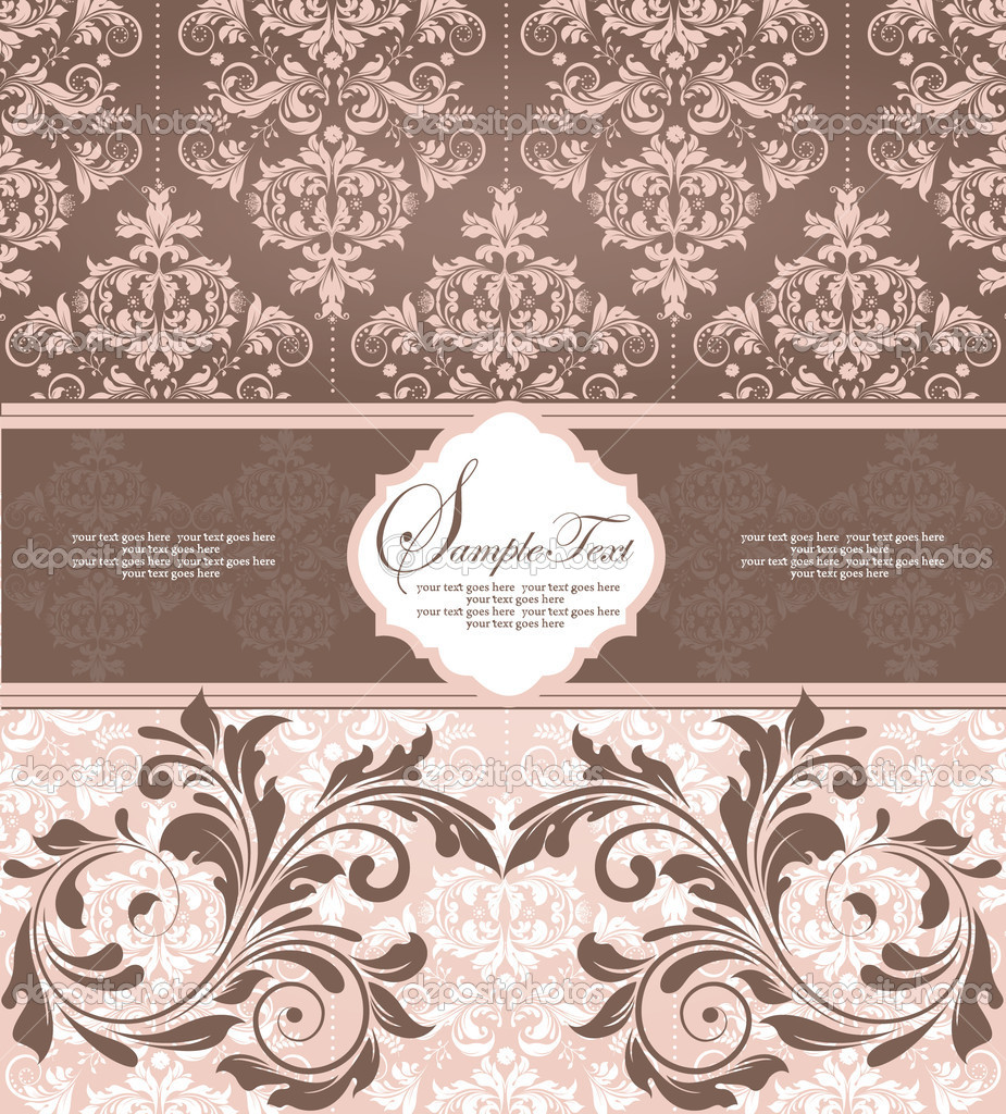 Invitation card — Stock Vector #10660374