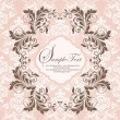 Royalty-Free Stock Vector Image: ELEGANT DAMASK INVITATION CARD