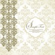 Invitation vintage card with floral ornament — Imagen vectorial