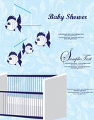 Annonce de douche de bébé — Vecteur