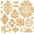 Set of ornate vector ornaments - Imagen vectorial