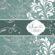 Royalty-Free Stock Vektorgrafik: Vintage styled card with floral ornament background