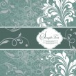 Vintage styled card with floral ornament background — Image vectorielle