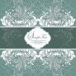 Royalty-Free Stock Imagen vectorial: Vintage styled card with floral ornament background