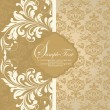 Vintage damask invitation card — Stock Vector #8347131