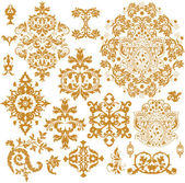 Set di ornamenti vettoriale ornato — Vettoriale Stock