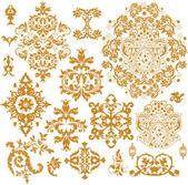 華やかなベクトルの飾りのセット — ストックベクタ